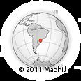 Outline Map of Erechim, rectangular outline