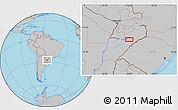 Gray Location Map of Encarnación