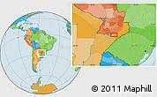 Political Location Map of Encarnación