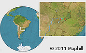 Satellite Location Map of Encarnación