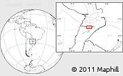 Blank Location Map of Yabebyry