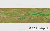 Satellite Panoramic Map of Yabebyry