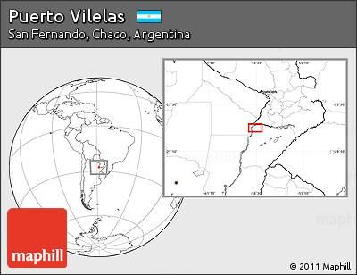 Blank Location Map of Puerto Vilelas