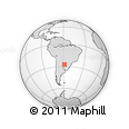 Outline Map of Itapirú, rectangular outline
