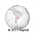 Outline Map of El Palmar, rectangular outline