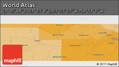 """Political Panoramic Map of the Area around 27°29'28""""S,59°25'29""""W"""