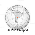 Outline Map of Horquilla, rectangular outline