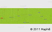 """Physical Panoramic Map of the area around 27°29'28""""S,60°16'29""""W"""