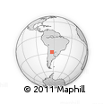 Outline Map of La Ramada, rectangular outline