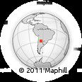 Outline Map of Doña Luisa, rectangular outline