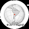 Outline Map of Cochuna, rectangular outline