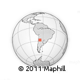 Outline Map of Cóndorhuasi, rectangular outline