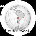 Outline Map of Copiapó, rectangular outline