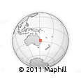Outline Map of Mount Mort, rectangular outline