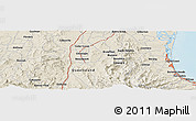 Shaded Relief Panoramic Map of Southport
