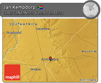 Free Physical 3D Map of Jan Kempdorp