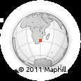 Outline Map of Mondlo, rectangular outline