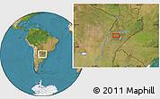 "Satellite Location Map of the area around 27°58'39""S,57°43'30""W"