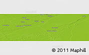 """Physical Panoramic Map of the area around 27°58'39""""S,57°43'30""""W"""