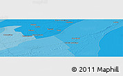 """Political Panoramic Map of the area around 27°58'39""""S,57°43'30""""W"""