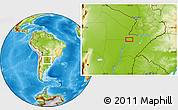 Physical Location Map of Ramadita