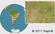 "Satellite Location Map of the area around 27°58'39""S,58°34'30""W"