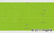 """Physical 3D Map of the area around 27°58'39""""S,60°16'29""""W"""