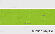 """Physical Panoramic Map of the area around 27°58'39""""S,60°16'29""""W"""