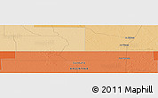 """Political Panoramic Map of the area around 27°58'39""""S,60°16'29""""W"""
