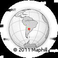 Outline Map of Chorotis, rectangular outline