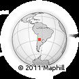 Outline Map of Salar De Pipanaco, rectangular outline