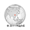 """Outline Map of the Area around 28° 18' 5"""" N, 106° 19' 29"""" E, rectangular outline"""