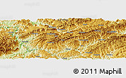 """Physical Panoramic Map of the area around 28°18'5""""N,106°19'29""""E"""