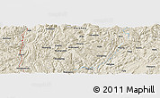 "Shaded Relief Panoramic Map of the area around 28° 18' 5"" N, 107° 10' 30"" E"