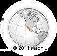 Outline Map of Onavas, rectangular outline