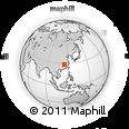 Outline Map of Shanggao, rectangular outline