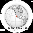Outline Map of Punta Morro Redondo, rectangular outline