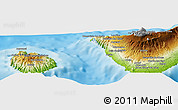 """Physical Panoramic Map of the area around 28°18'5""""N,16°55'29""""W"""