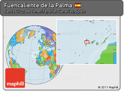 Free Political Location Map of Fuencaliente De La Palma