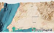 Satellite 3D Map of Al Bad`