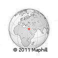 Outline Map of Al Bad`, rectangular outline
