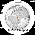 Outline Map of Tabūk, rectangular outline