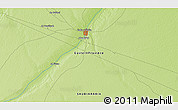 """Physical 3D Map of the area around 28°18'5""""N,45°58'30""""E"""