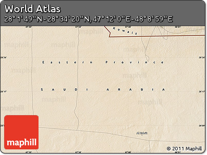 "Satellite Map of the Area around 28°18'5""N,47°40'29""E"