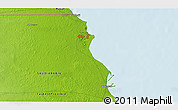 """Physical 3D Map of the area around 28°18'5""""N,48°31'29""""E"""