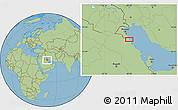 "Savanna Style Location Map of the area around 28°18'5""N,48°31'29""E"