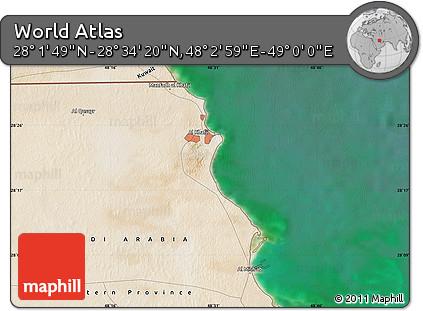 "Satellite Map of the Area around 28°18'5""N,48°31'29""E"