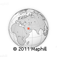 """Outline Map of the Area around 28° 18' 5"""" N, 48° 31' 29"""" E, rectangular outline"""