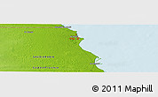 """Physical Panoramic Map of the area around 28°18'5""""N,48°31'29""""E"""