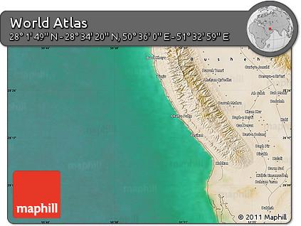 "Satellite Map of the Area around 28°18'5""N,51°4'30""E"